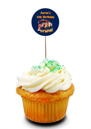 Fireman Sam Cupcake Picks/Toppers